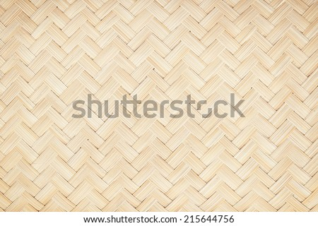 woven wooden texture surface top view - stock photo
