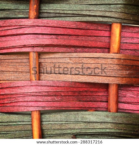 Woven wooden wicker fence panel for the hand crafts - stock photo