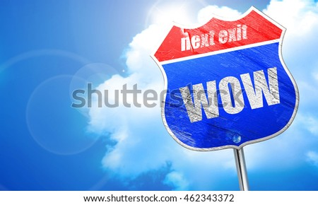 wow, 3D rendering, blue street sign
