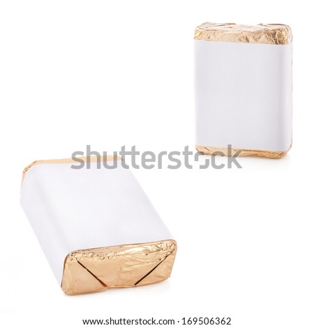 Wrap box package for new design isolated on white background - stock photo