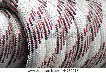 wrapped up white static rope