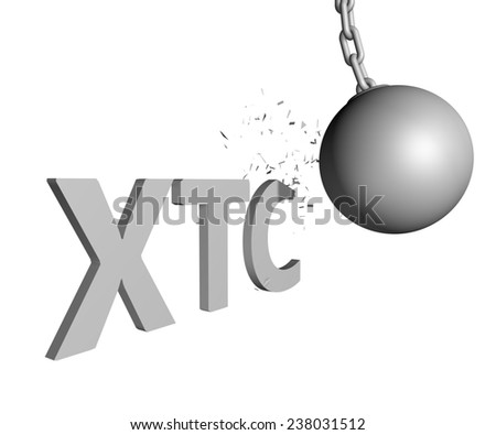 wrecking ball ending XTC issue - stock photo