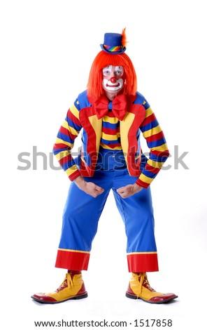 Wrestling Clown - stock photo