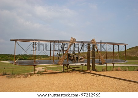 Wright Brothers memorial - stock photo