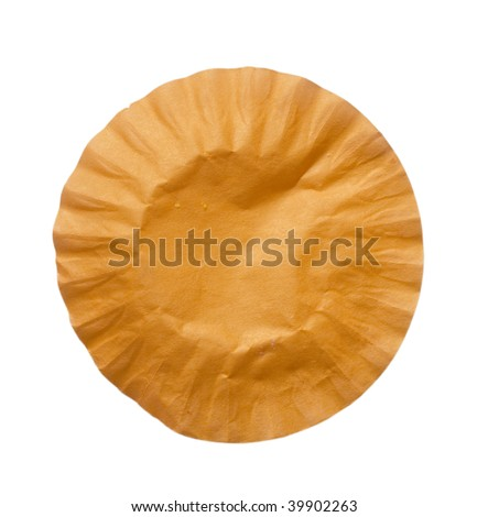 wrinkled oval paper - stock photo