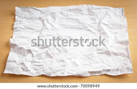 Wrinkled paper background - stock photo