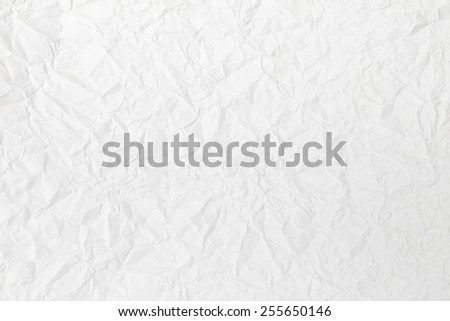 wrinkled paper or crumpled paper texture background - stock photo
