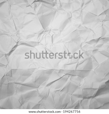 wrinkled paper texture or background - stock photo