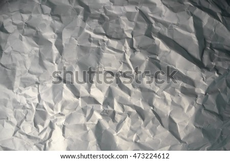 wrinkled paper texture. White sheet.