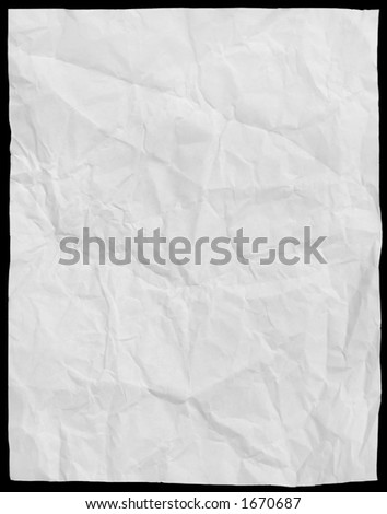 wrinkled paper that can be used as a texture or written on - stock photo