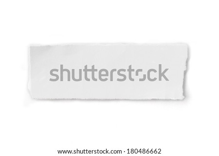 Wrinkled paper-torn paper - stock photo