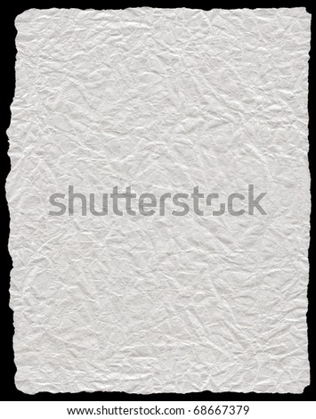 Wrinkled white paper close up - stock photo