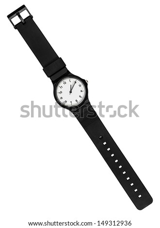 wrist watch isolated on white back ground - stock photo