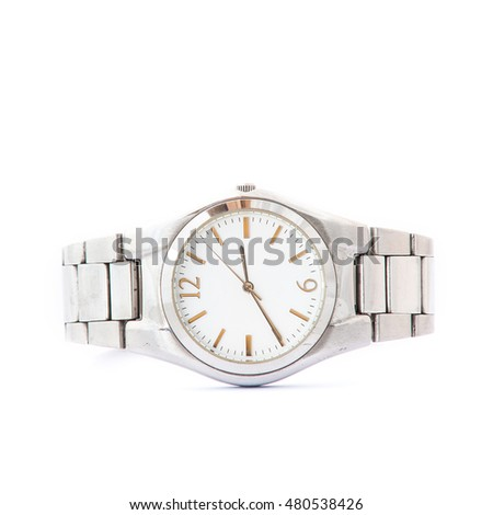 wrist watches isolated on white background