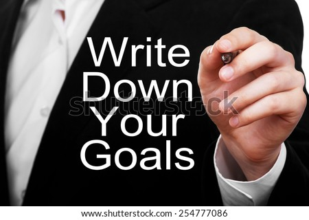 Write Down Your Goals - stock photo