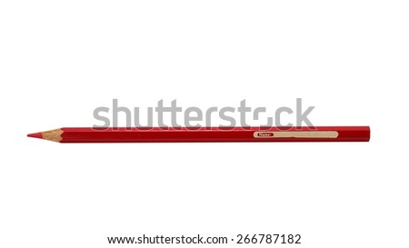 Write your name on the colour pencils isolated on white