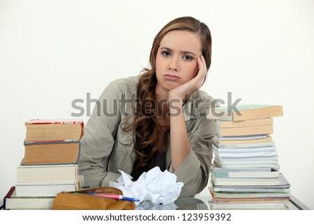 Writer's block - stock photo