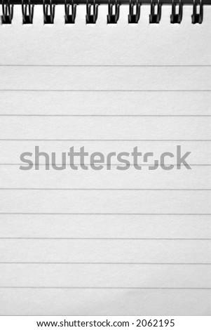 Writing book - stock photo