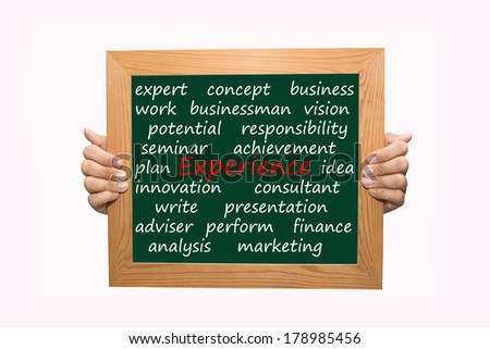 Writing experience concept  - stock photo