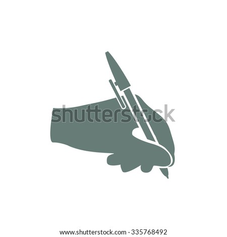 Writing icons. Signing contract icon. concept flat style design illustration icon. - stock photo