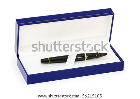 Writing pen isolated on the white background - stock photo