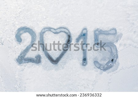 written an a winter window background  - stock photo