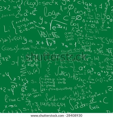 written by hand mathematics seamless pattern - stock photo
