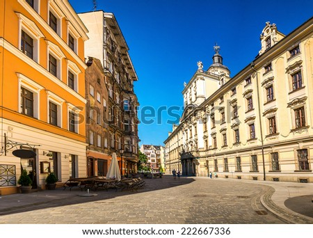 Wroclaw - Poland's historic center, a city with ancient architecture. - stock photo