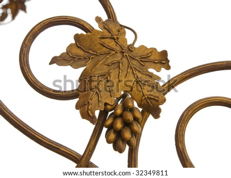 Wrought Iron  design - stock photo