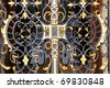 "Wrought iron door at the castle of ""Linderhof"" - stock photo"