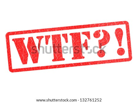 WTF?! Rubber Stamp over a white background. - stock photo