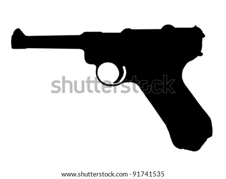 WW2 Series - German Pistole P08 - Luger - stock photo