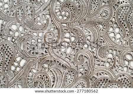 WWhite cotton fabric, with patterns.  tissue, textile, cloth, material, texturehite cotton fabric, with patterns.  tissue, textile, cloth, material, texture - stock photo