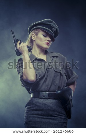 wwii, Official German woman, representation of tyranny and oppression - stock photo