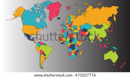 WWorld Map, Europe, Asia, North America, South America, Africa, Australia / Australasia / Oceania. A world map is a map of most or all of the surface of the Earth.