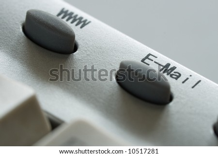 www and e-mail button concepts - stock photo