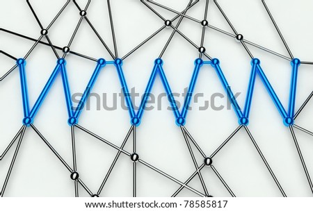 www Conception, Communication in Web Network, Isolated - stock photo