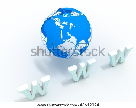www 3d symbol and 3d earth