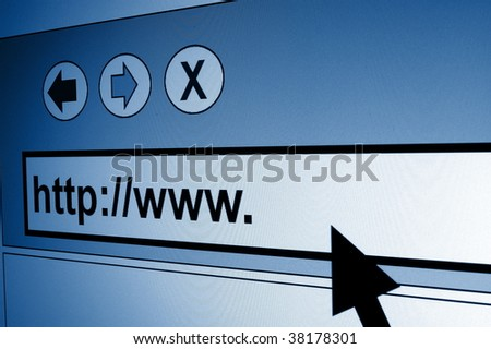 www internet browser showing a communication concept - stock photo