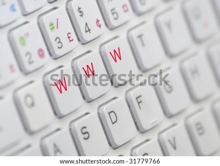 www keys - stock photo