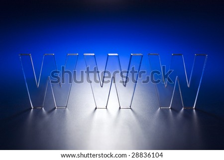 www on a blue background. - stock photo