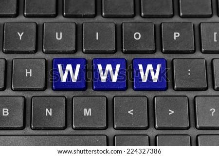 www or world wide web blue word on keyboard - stock photo