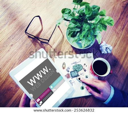 Www Web Design Web Page Website Concept - stock photo