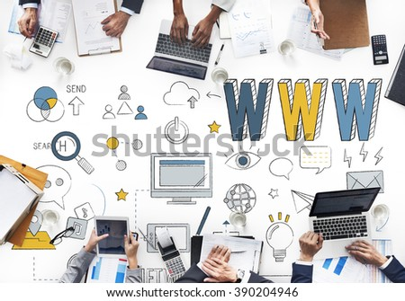 Www Website Internet Online Connection Concept - stock photo