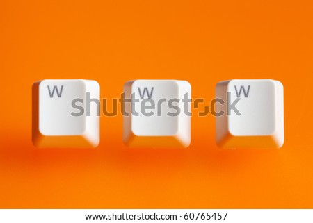 www word  making from a computer keyboard - stock photo