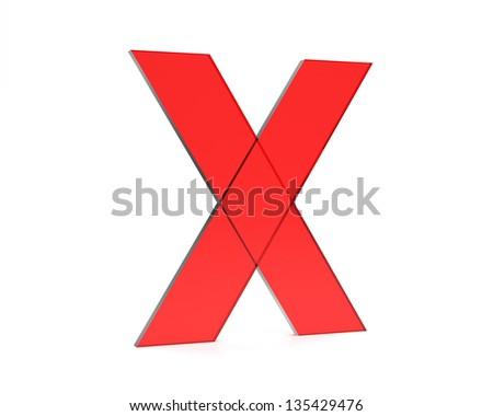 x - stock photo