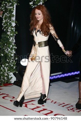 X Factor's Janet Devlin arriving for the UK premiere of The Twilight Saga: Breaking Dawn Part 1 at Westfield Stratford City, London. 17/11/2011 Picture by: Alexandra Glen / Featureflash - stock photo