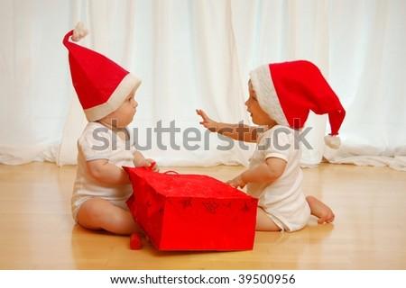 X-Mas Babies - stock photo
