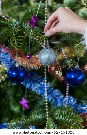 People Decorating A Christmas Tree family decorating christmas tree stock images, royalty-free images