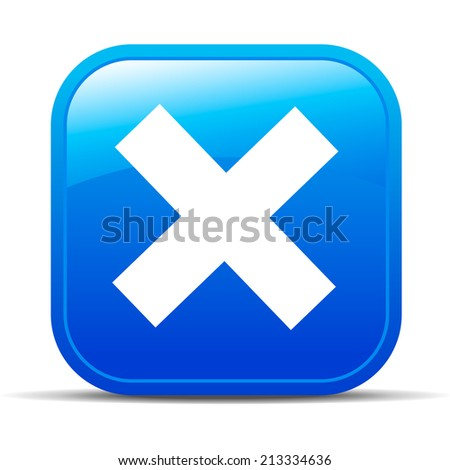 X No rejected Internet button Icon App - Raster Version - stock photo